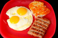 Eggs Sausage Potatoes Stock Images