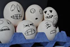 Eggs are scared  Stock Photography