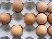 Eggs and Shapes. Interesting shapes from a tray of chicken eggs royalty free stock photography