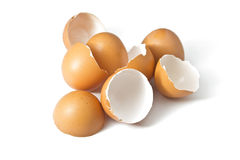Eggs shell on a white background Stock Images