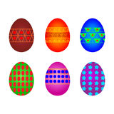 Eggs six Royalty Free Stock Photos