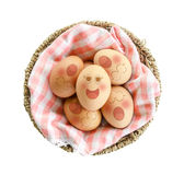 Eggs sleep in Expression Face. Royalty Free Stock Photos