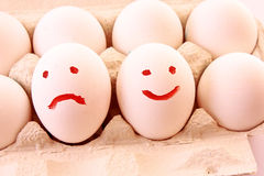 Eggs with smile Stock Photography
