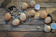 Eggs smile Royalty Free Stock Images
