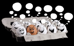 Eggs with smiley faces Royalty Free Stock Photography