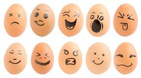 Eggs, smiling Stock Photo