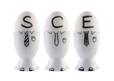 Eggs, Societas Cooperativa Europaea concept. Stock Photography