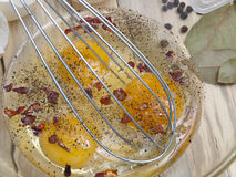Eggs with spices and a nimbus Royalty Free Stock Images