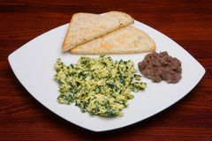 Eggs with spinach 2 Royalty Free Stock Photography
