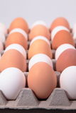 Eggs. Stack of Eggs on a crate Stock Image