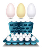 Eggs stacked in container Royalty Free Stock Image