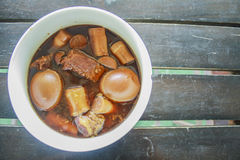 Eggs stewed food Thailand. Thailand eggs stewed foods, local foods include eggs, pork and spices Stock Image