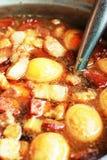 Eggs, stewed pork with tofu Stock Photography