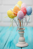 Eggs on a stick, bouquet Stock Photos