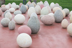 Eggs stone Stock Photos