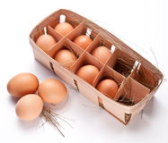 Eggs with a straw Stock Photography