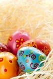 Eggs in straw Stock Photo