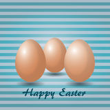 Eggs in striped background Stock Photography