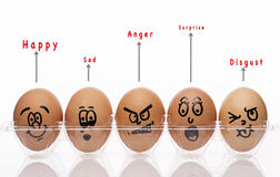 Eggs Style with emotional text Royalty Free Stock Photo