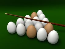 Eggs on the table for billiards Stock Image