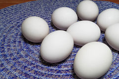 Eggs on a Table Stock Images