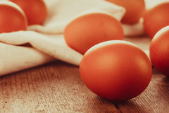 Eggs on textile Royalty Free Stock Photo