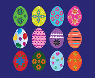 Eggs texture patterns easter. Royalty Free Stock Images