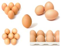 Eggs themed collage Royalty Free Stock Photography