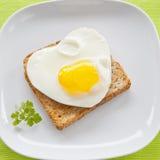 Eggs on toast Stock Image