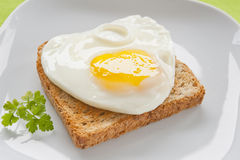 Eggs on toast Royalty Free Stock Image