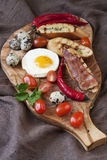 Eggs with toast and bacon for breakfast Royalty Free Stock Photos