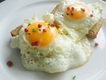 Eggs on toast Stock Images