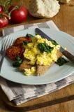 Eggs on toast Stock Photography
