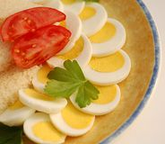 Eggs and tomato. For dinner Stock Image