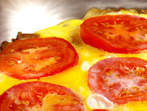 Eggs with Tomatoes. Eggs and tomatoes close up Stock Photos