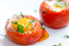 Eggs with tomatoes italian style Stock Image
