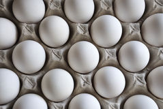Eggs Tray. Eggs in the paper Tray Royalty Free Stock Photos