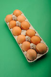Eggs in Tray. One Dozen Fresh Eggs in tray stock photography