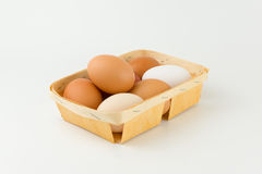 Eggs in a tray Royalty Free Stock Photo