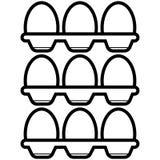 Eggs vector del icono ilustración del vector