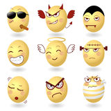 Eggs Vector Emotions Set2 Stock Images