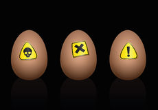 Eggs Warning Danger Symbols Diet Royalty Free Stock Image