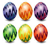 Eggs with wavy Stock Images