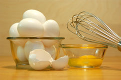 Eggs & Whisk Stock Image