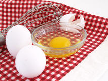 Eggs and Whisk Royalty Free Stock Image
