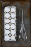 Eggs Whisk Baking Sheet Stock Photo