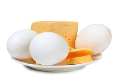 Eggs whit cheese Stock Photography