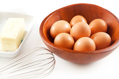 Eggs on a white Royalty Free Stock Photography