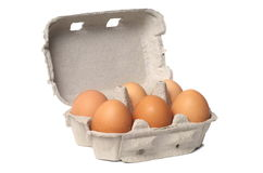 Eggs on White Stock Images
