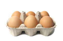 Eggs on White Stock Photo